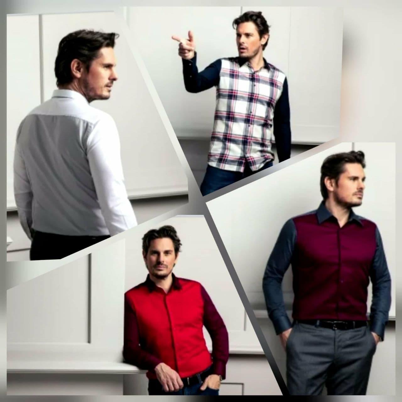Bi-Color Herren Maßhemden